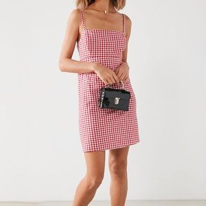 Cooperative red gingham 90's style mini dress